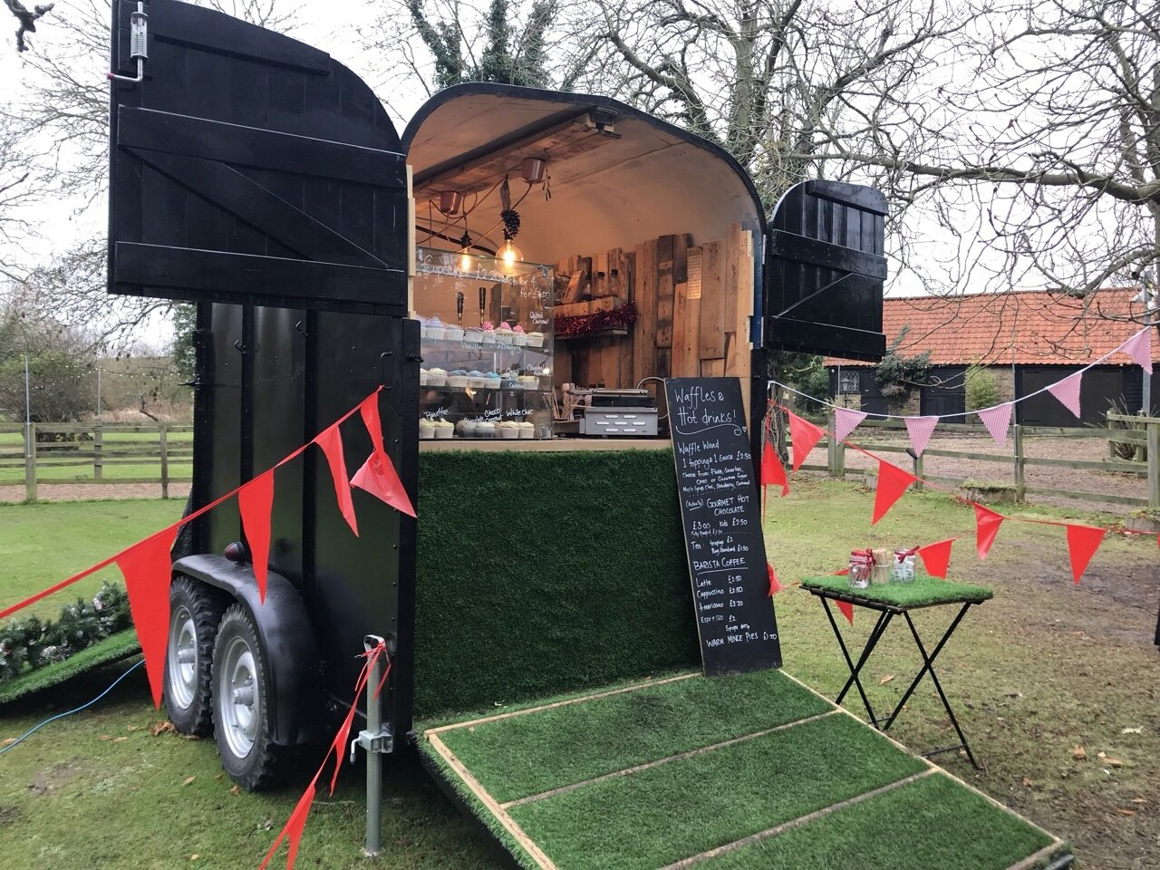 Hot Chocolate Stand at An Elf's Wish at Nevendon Manor