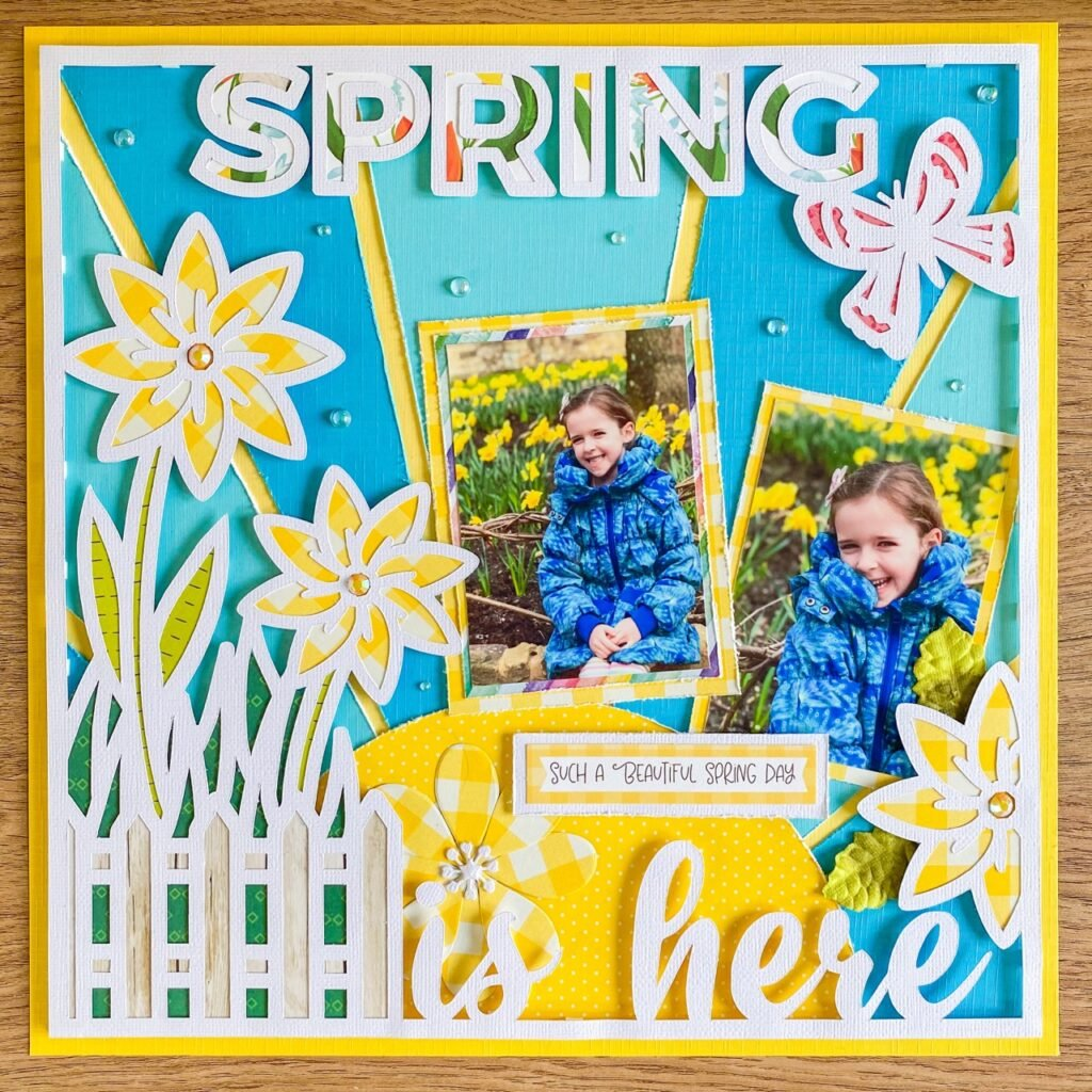 Spring Frame Cut file for scrapbooking by Emma Mitchell