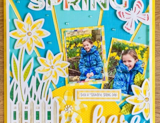 free Spring cut file for scrapbooking